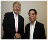 Donald Trump with Ewen Chia